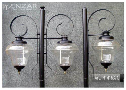 Faroles Con Columna Para Jardin. Iluminacion Fabricantes - $ 2.139 ...