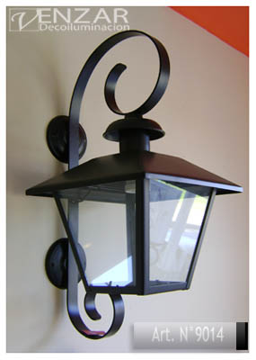 Faroles y farolas de hierro y bronce somos fabricantes for Faroles para jardin exterior